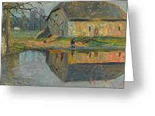 Landscape With A Barn Greeting Card
