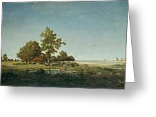 Landscape With A Clump Of Trees Greeting Card