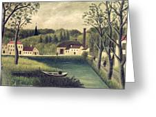 Landscape With A Fisherman Greeting Card