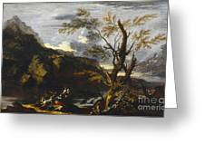 Landscape With A Lake Greeting Card