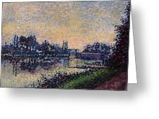 Landscape With A Lock 1885 Greeting Card