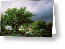 Landscape With A Mill Greeting Card