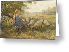 Landscape With A Shepherdess Greeting Card
