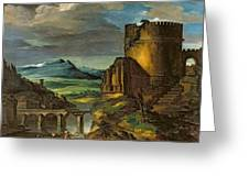 Landscape With A Tomb  Greeting Card by Theodore Gericault