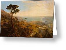 Landscape With Classical Ruins Greeting Card