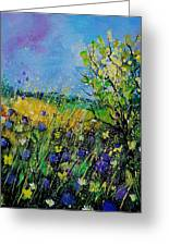 Landscape With Cornflowers 459060 Greeting Card
