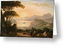 Landscape With Decorative Greeting Card