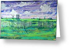 Landscape With Fence Greeting Card
