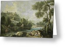 Landscape With Figures Greeting Card