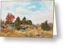 Landscape With Fox Greeting Card