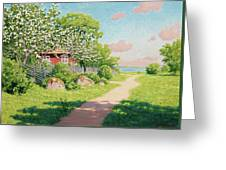 Landscape With Fruit Trees Greeting Card