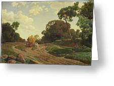 Landscape With Haywagon Greeting Card