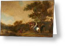Landscape With Hunting Party Greeting Card