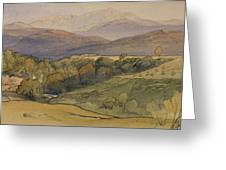 landscape with Lochnagar in the distance Greeting Card