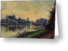 Landscape With Lock 1886 Greeting Card