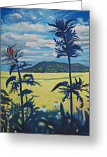 Landscape With Nettles Greeting Card
