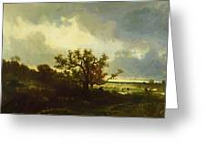 Landscape With Oaktree Greeting Card