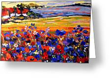 Landscape With Poppies Greeting Card