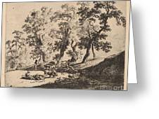 Landscape With Shepherds Greeting Card