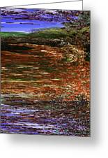 Landscape With Sky Reflected Greeting Card