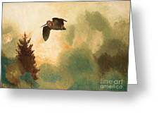 Landscape With Snipe Greeting Card