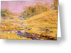 Landscape With Stream Greeting Card