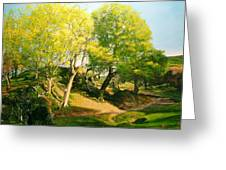 Landscape With Trees In Wales Greeting Card