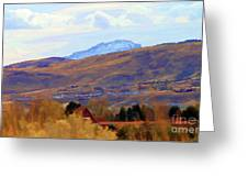Landscape Wyoming State  Greeting Card