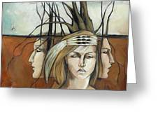 Landscaped Headdress Greeting Card