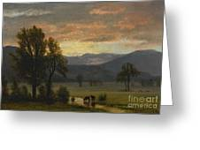 Landscape_with_cattle Greeting Card