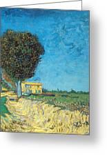 Lane Near Arles Greeting Card