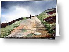 Lane To Quarry Pole Moor Greeting Card