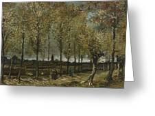 Lane With Poplars Near Nuenen Greeting Card