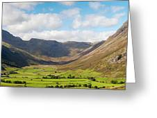 Langdale Fell And Pikes Panorama Greeting Card