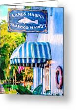 Lang's Marina Seafood Market Greeting Card