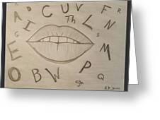 Language Of Speech Greeting Card