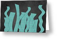Languettes 02 - Aqua Greeting Card