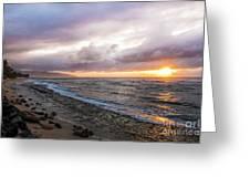 Laniakea Beach Sunset Greeting Card
