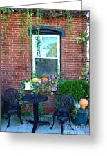Lanier Winery Bistro Table Greeting Card