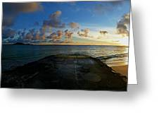 Lanikai At Sunrise Greeting Card