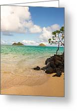 Lanikai Beach 1 - Oahu Hawaii Greeting Card