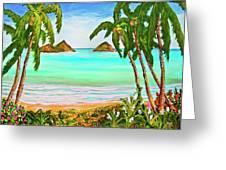 Lanikai Beach Oahu Hawaii #358 Greeting Card
