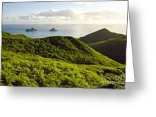 Lanikai Hills Greeting Card