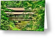Lanterman's Mill Covered Bridge Greeting Card
