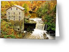 Lantermans Mill In Fall Greeting Card
