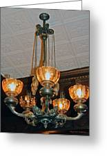 Lantern Chandelier Greeting Card by DigiArt Diaries by Vicky B Fuller