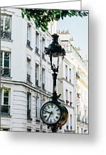 Lantern Clock Greeting Card