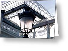 Lantern In Front Of The Crystal Palace, Madrid Greeting Card