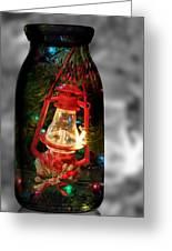 Lantern In Glass Jar Greeting Card