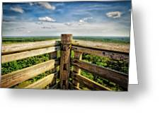 Lapham Peak Wisconsin - View From Wooden Observation Tower Greeting Card